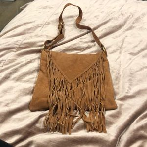 Suede Fringe Crossbody Bag - COACHELLA